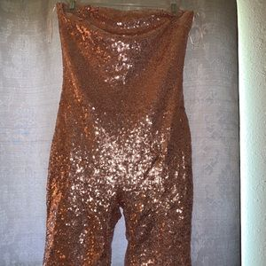 Kylie Jenner Birthday Bash Sequin Romper ! NWT .